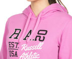 Russell Athletic Women's Campus RA Hoodie - Pink Panther 6