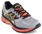ASICS Women's GT-2000 4 Shoe - Mid Grey/Black/Flash Coral 2