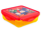 Zak! Justice League Snap Sandwich Container - Red/Yellow 1