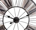 XXL 70cm Metal Floating Clock - Antique Brown 4