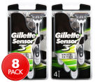 2 x Gillette Sensor 3 Special Edition Disposable Razors 4pk 1