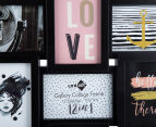 12-Photo Gallery Collage Frame - Black 4