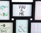 9-Photo Gallery Collage Frame - Black 4