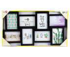 8-Photo Gallery Collage Frame - Black 6