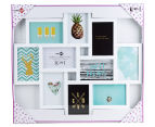 10-Photo Gallery Collage Frame - White 6