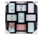 9-Photo Gallery Collage Frame - Black 6