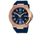 LORUS Men's 46mm Watch - Navy/Rose Gold 1