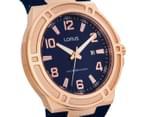 LORUS Men's 46mm Watch - Navy/Rose Gold 2