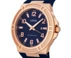 LORUS Men's 46mm Watch - Navy/Rose Gold 3