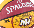 SPALDING NBA Miami Heat Basketball - Size 7 4