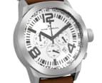 Marc Coblen 50mm MC50S4 Chronograph Watch + 3 Assorted Straps - White/Steel 2
