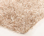Metallic 80x50cm Chunky & Thin Shag Rug - Cream 2