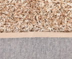 Metallic 80x50cm Chunky & Thin Shag Rug - Cream 4