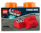 LEGO® Movie Storage Brick w/ 4 Knobs - Orange 1