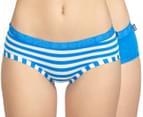 Bonds Women's Hipster Boyleg 2-Pack - Blue/Stripe 1