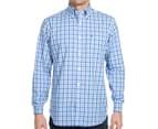 Nautica Men's Long Sleeve Plaid Shirt - Spinner Blue 2