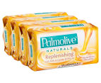 3 x 4pk Palmolive Naturals Replenishing Soap Bars Milk & Honey 4