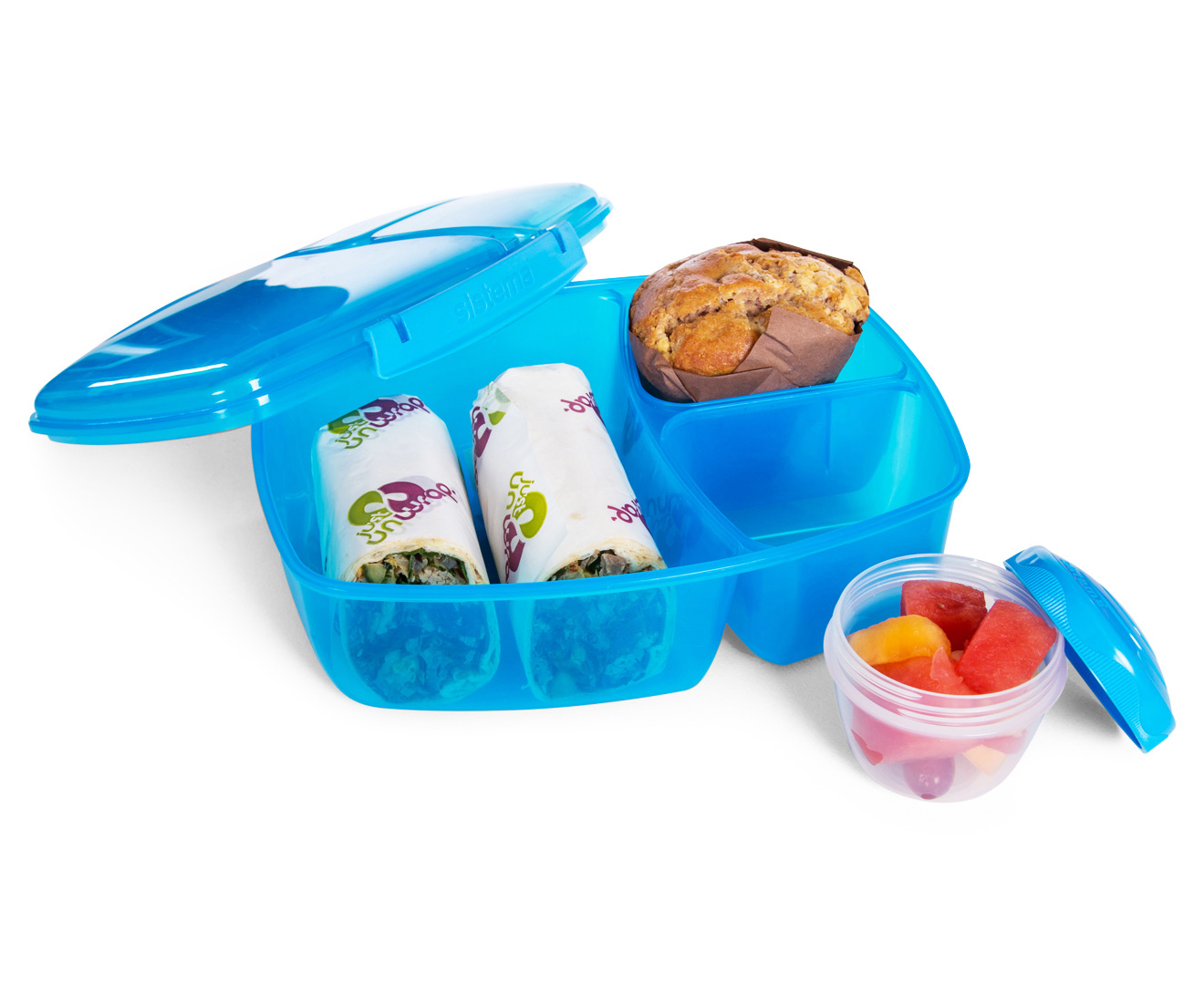 Sistema 2L Triple Split Lunchbox w/ Yoghurt Pot - Randomly Selected ...