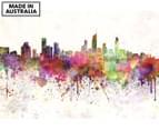 Gold Coast Skyline Watercolour 90x59cm Canvas Wall Art 1