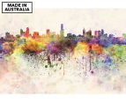 Watercolour City 90x59cm Canvas Wall Art 1
