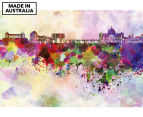 Rome Skyline Watercolour 90x59cm Canvas Wall Art 1