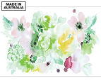 Floral Array Green 90x59cm Canvas Wall Art 1