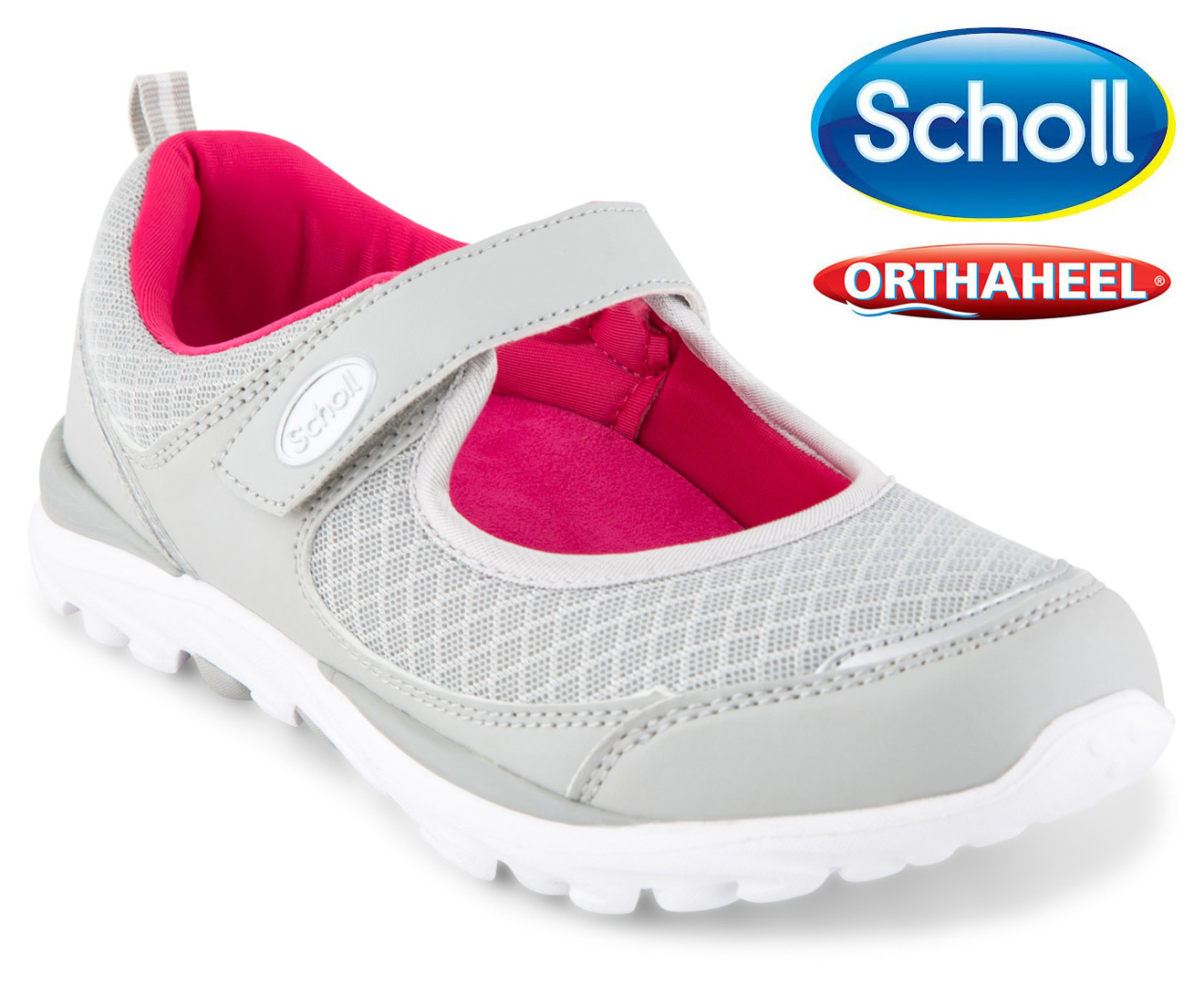 Scholl Women S Gusto Mary Jane Orthaheel Shoe Grey