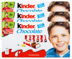 3 x Kinder Chocolate 8pk 1