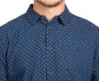 Globe Men's Hawk Long Sleeve Shirt - Indigo 6