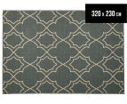 Geometric 320x230cm UV Treated Indoor/Outdoor Rug - Grey 1