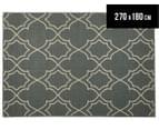 Geometric 270x180cm UV Treated Indoor/Outdoor Rug - Grey 1