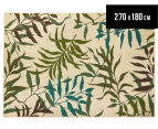 Colour Leaves 270x180cm UV Treated Indoor/Outdoor Rug - Multi 1