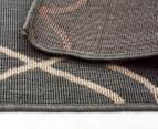 Geometric 160x110cm UV Treated Indoor/Outdoor Rug - Grey 6