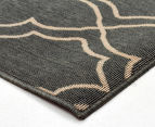 Geometric 270x180cm UV Treated Indoor/Outdoor Rug - Grey 3