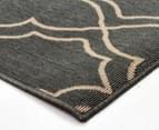 Geometric 320x230cm UV Treated Indoor/Outdoor Rug - Grey 3