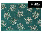 Branches 160x110cm UV Treated Indoor/Outdoor Rug - Teal 1