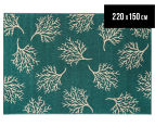 Branches 220x150cm UV Treated Indoor/Outdoor Rug - Teal 1