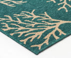 Branches 160x110cm UV Treated Indoor/Outdoor Rug - Teal 3