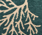 Branches 160x110cm UV Treated Indoor/Outdoor Rug - Teal 5