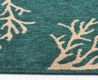 Branches 320x230cm UV Treated Indoor/Outdoor Rug - Teal 4