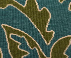 Falling Leaves 270x180cm UV Treated Indoor/Outdoor Rug - Green/Blue 5