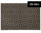 Columns 220x150cm UV Treated Indoor/Outdoor Rug - Brown 1