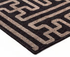 Columns 220x150cm UV Treated Indoor/Outdoor Rug - Brown 3