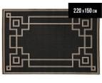 Borders 220x150cm UV Treated Indoor/Outdoor Rug - Charcoal 1