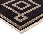 Borders 160x110cm UV Treated Indoor/Outdoor Rug - Charcoal 3