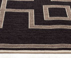 Borders 160x110cm UV Treated Indoor/Outdoor Rug - Charcoal 4