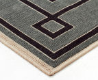 Borders 220x150cm UV Treated Indoor/Outdoor Rug - Grey 3