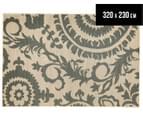 Floral Medallion 320x230cm UV Treated Indoor/Outdoor Rug - Cream 1