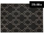 Geometric 270x180cm UV Treated Indoor/Outdoor Rug - Charcoal 1