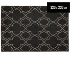 Geometric 320x230cm UV Treated Indoor/Outdoor Rug - Charcoal 1